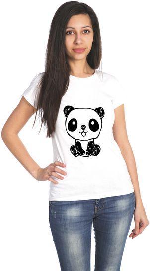 Панда футболка женская