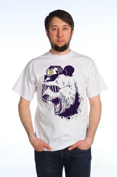 Мишка в бейсболке футболка мужская