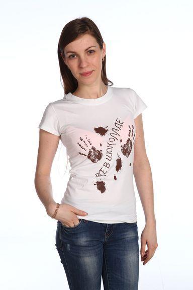 Все в шоколаде футболка женская