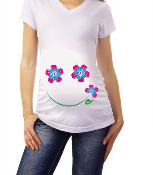 Улыбка 1 футболка для беременных