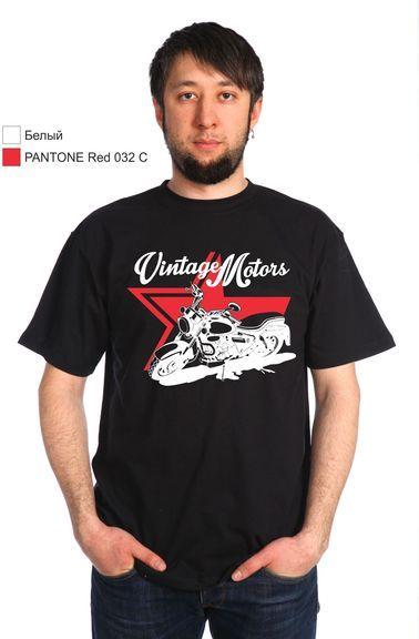 Моторс черная футболка мужская