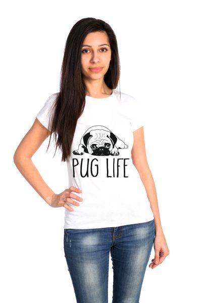 Мопс футболка женская